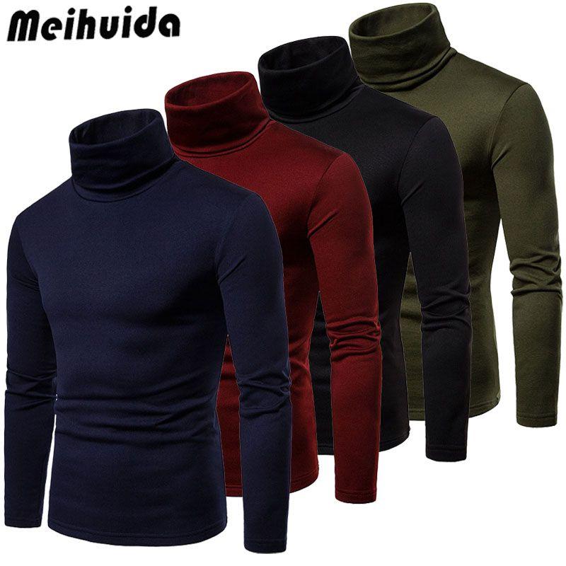 Men/'s High Roll Turtle Neck Sweatshirt Pullover Sweater Knitwear Jumper T-shirts