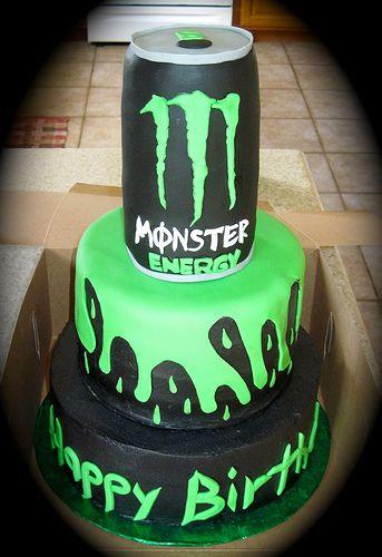 Monster Energy Cake Pretty Cakes Pinterest Monster