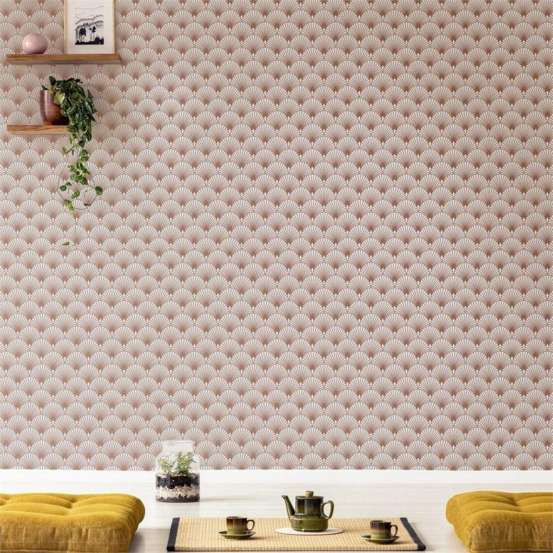 SFE Ecailles Gatsby Beige & Rose Gold Wallpaper en 2020