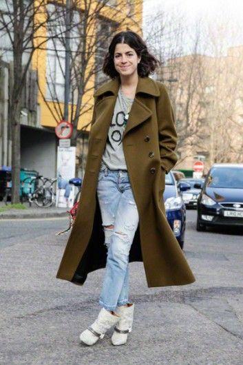 Leandra Medine//Oooh that coat.
