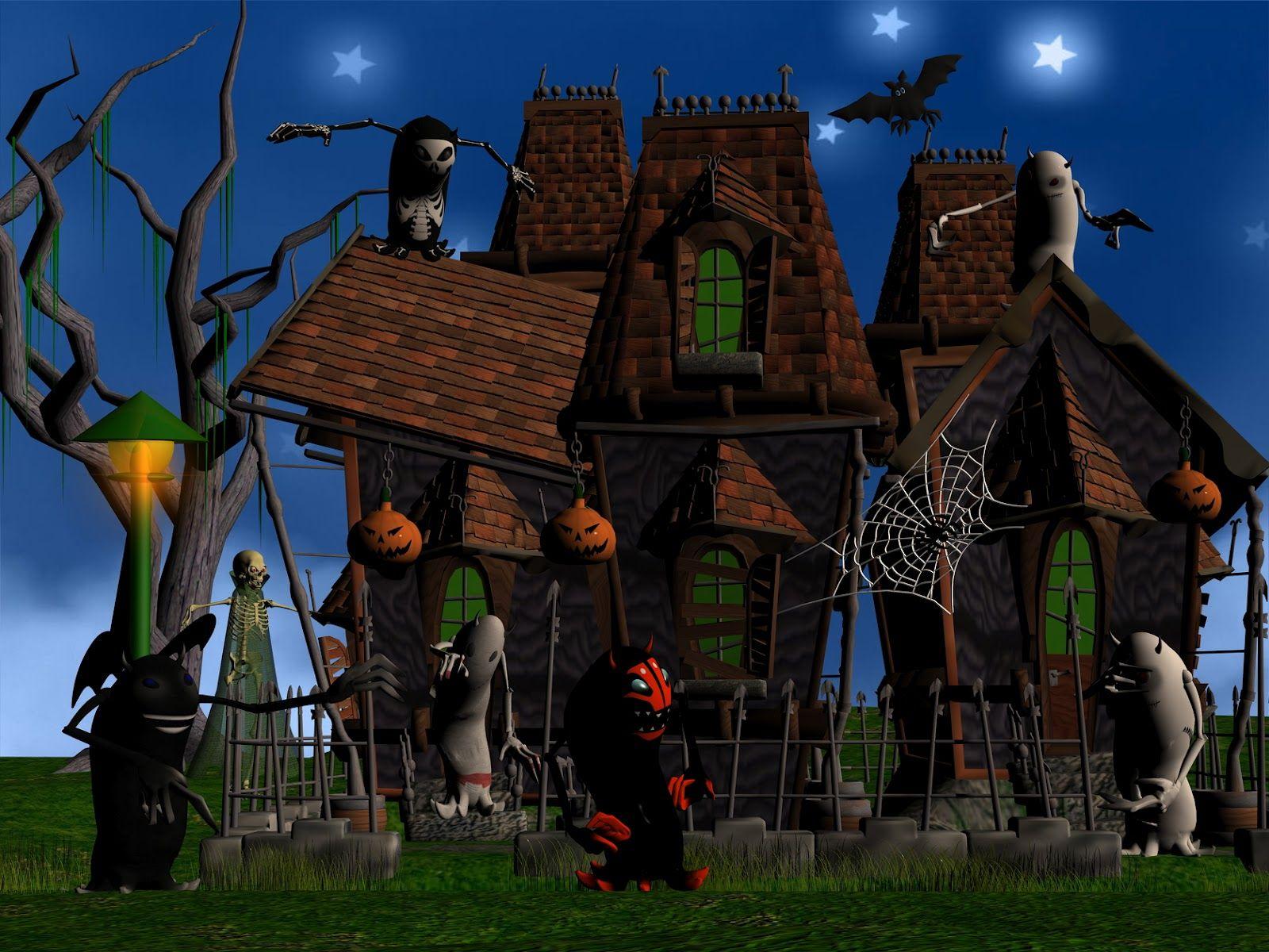 3d Happy Halloween Wallpaper With Images Halloween Haunted