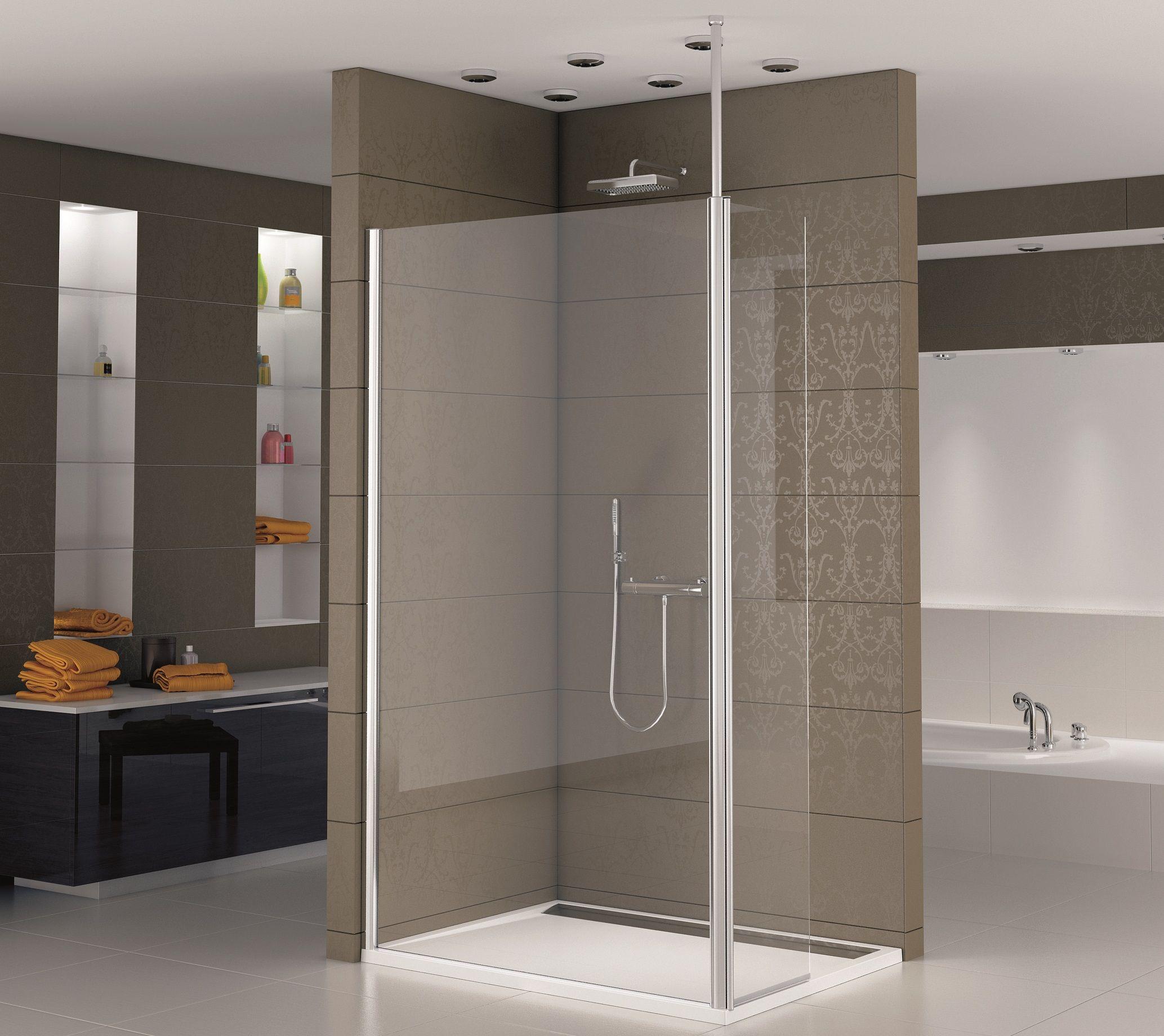dusche glaswand Wobaki Design Glaswand Dusche 120 x