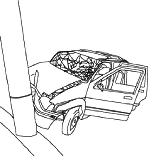 Cars Crashed To Electricity Pool Coloring Pages Netart Car Crash Coloring Pages Cars Coloring Pages