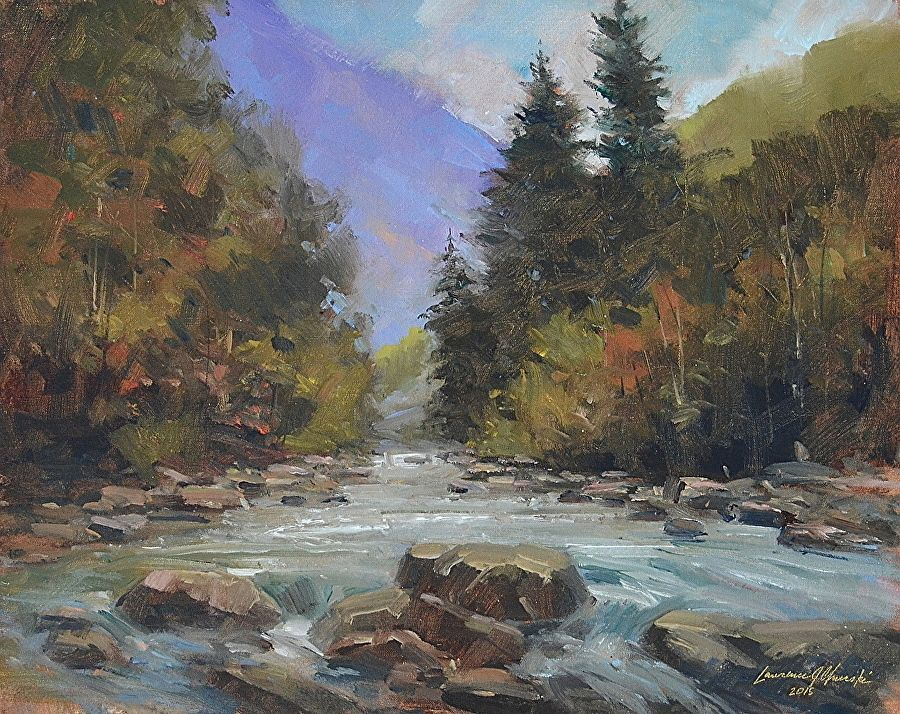 Cold Waters Demo by Lawrence Churski Oil ~ 16