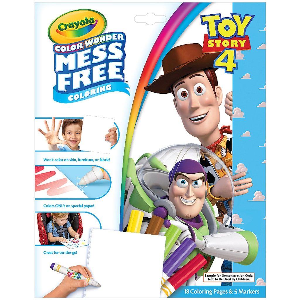 Disney Pixar Toy Story 4 Crayola Color Wonder Mess Free Coloring Book Color Wonder Coloring Books Free Coloring [ 1024 x 1024 Pixel ]