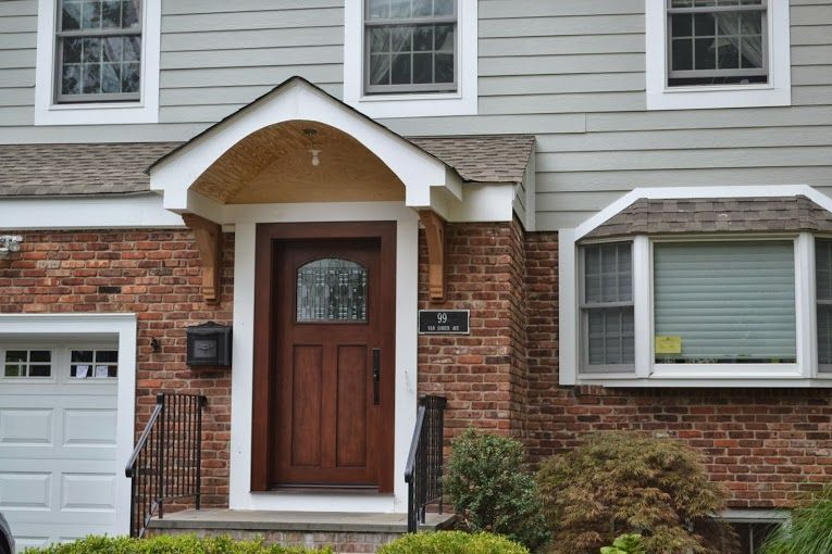Front Door and Portico Installation - Chatham NJ 07928 - Monk\u0027s & After Portico Installation by Monk\u0027s | New House - Outside ...