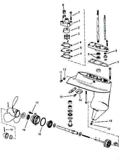 Johnson Outboard Drawing