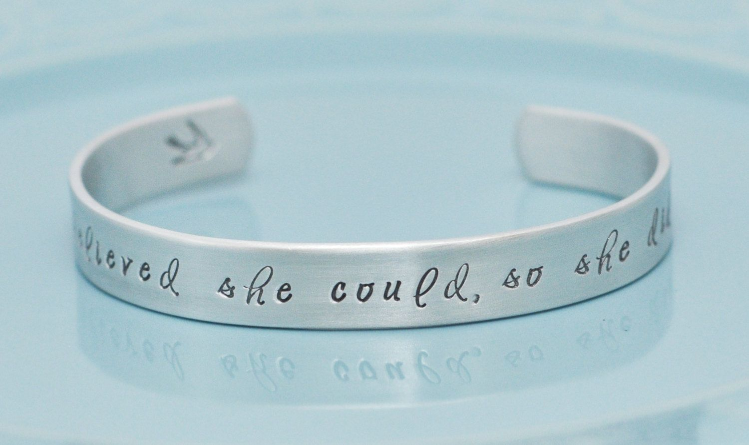 Hand stamped bracelet  She believed she could so by brandedheart, $18.00