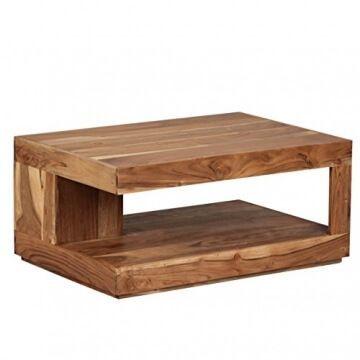Finebuy Couchtisch Massiv Holz Akazie 90 Cm Breit Wohnzimmer Tisch