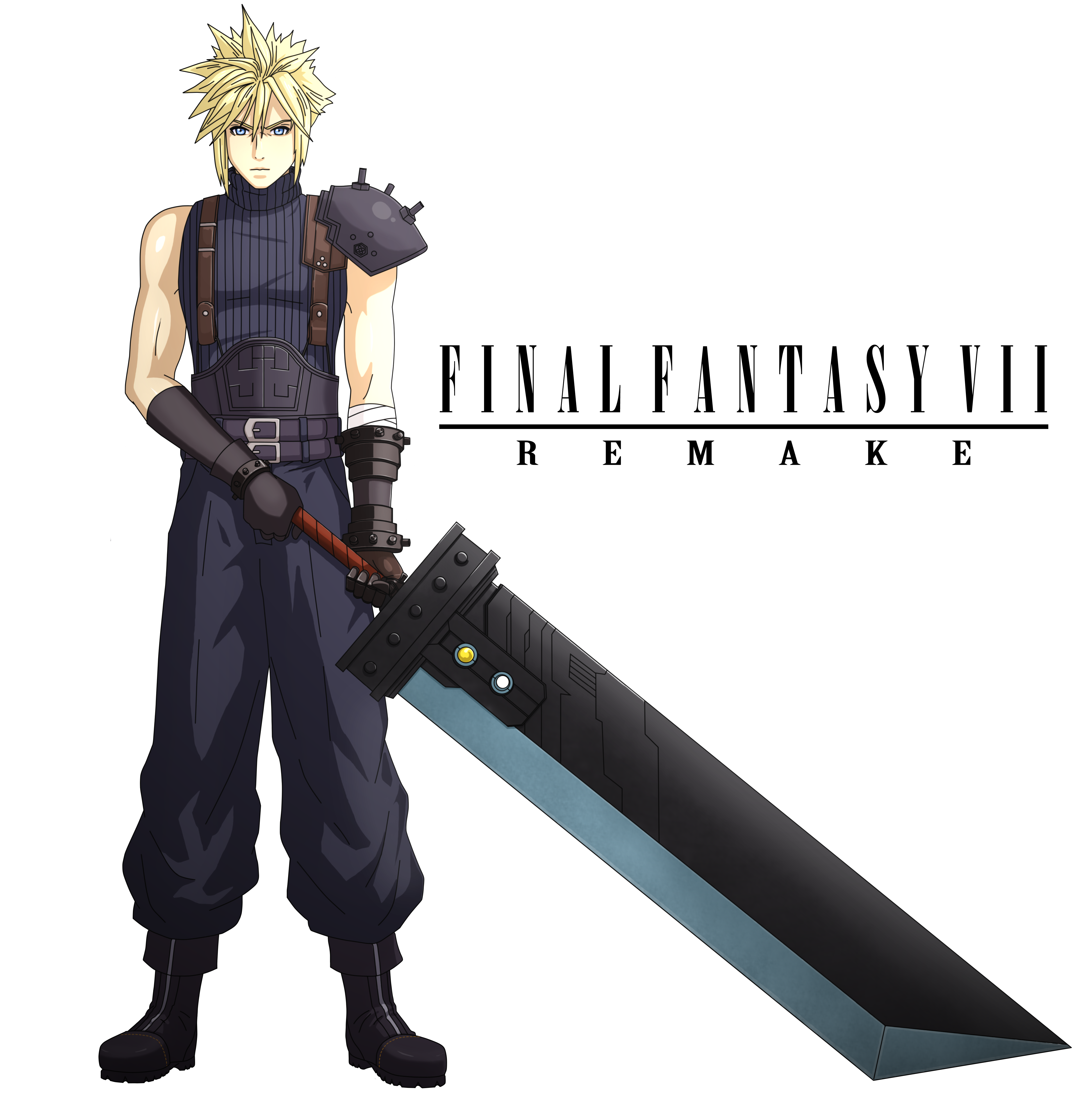 Illustration Final Fantasy Vii Remake Type B Final Fantasy Ilustrasi Final