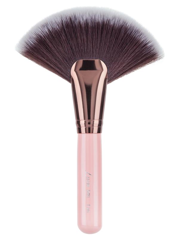 Luxie Rose Gold Large Fan Brush 540 Large Fan Makeup Brush Dupes Brush