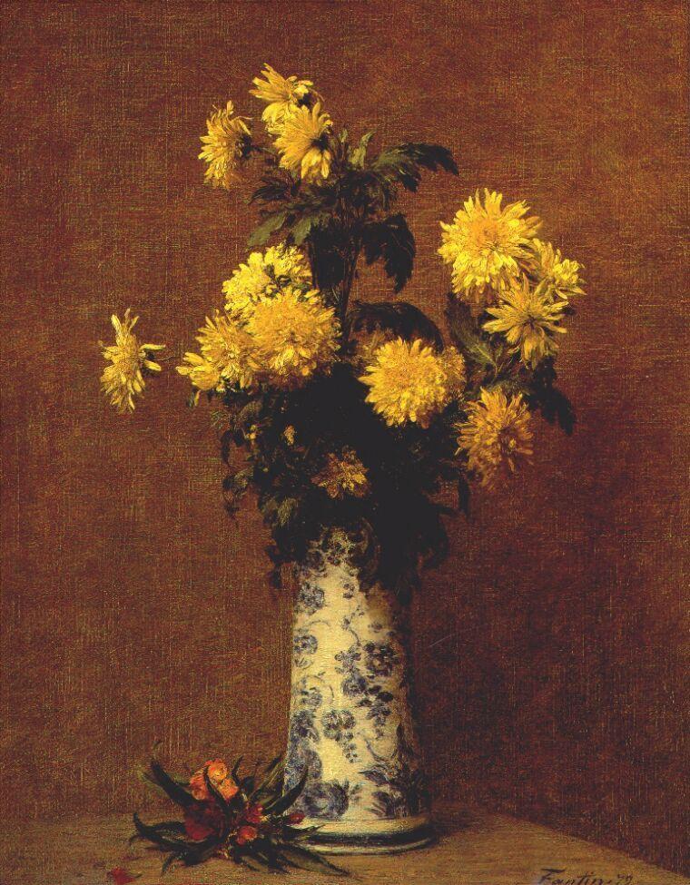 Chrysanthemums - Henri Fantin-Latour