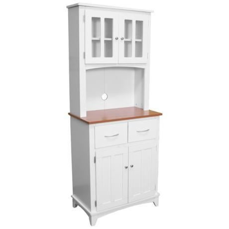 Oak Hills Tall White Microwave Cabinet 3x330 Lampsplus