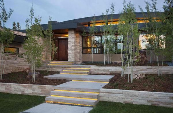 Contemporary Front Steps Cement   Google Search