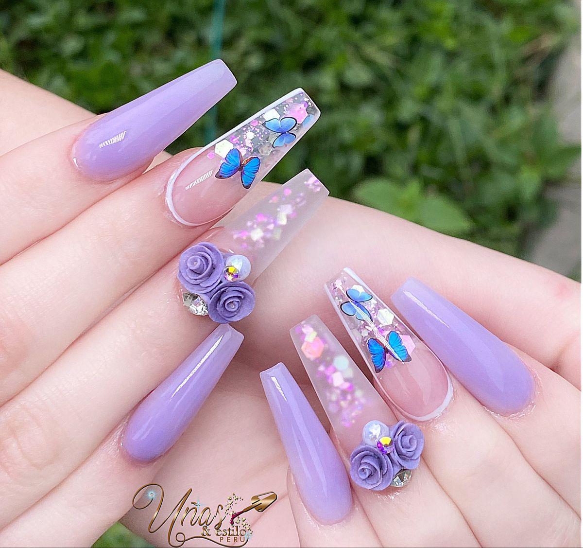 #butterfly #butterflynails #nails #nailsofinstagram #nailstagram #nailsdesign