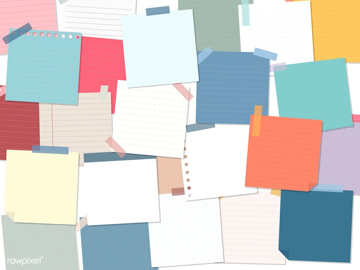 Download premium vector of Collection of sticky note