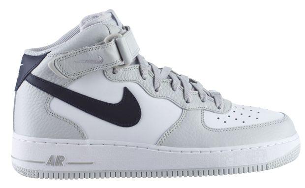 Nike Air Force 1 Mid Neutral Grey/Obsidian-White http://www.equniu.com/2011/12/06/nike-air-force-1-mid-neutral-greyobsidian-white/
