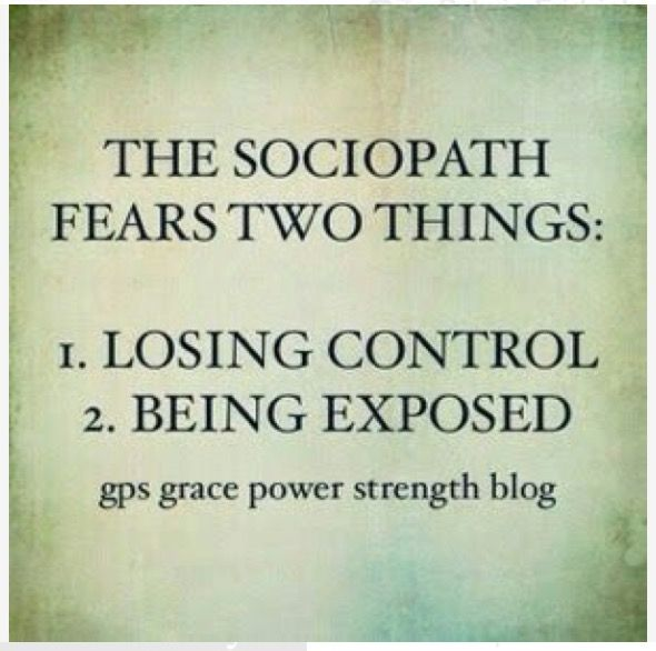 What happens when a sociopath loses control