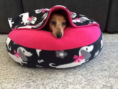 New Dachshund Small Dog Bed Snuggle Bed For Burrowing Dog New Cute