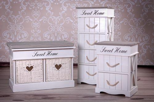 Komoda 4 Szuflady Biala Sweet Home 4940977492 Oficjalne Archiwum Allegro Sweet Home Home Decor Home