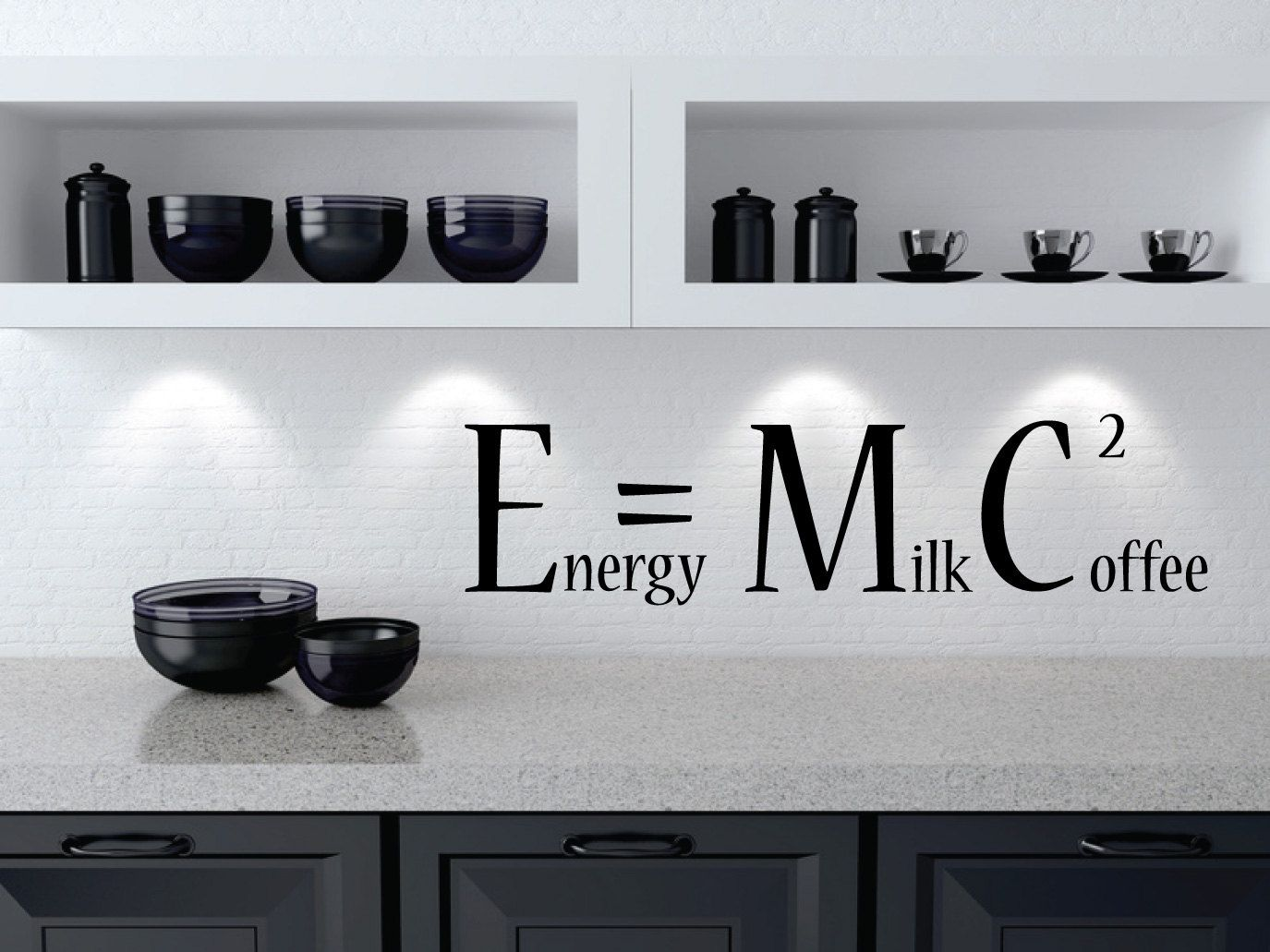 coffee wall sticker energy milk coffee squared e mc2 coffee wall sticker energy milk coffee squared e mc2 removable wall decal funny kitchen wall decor coffee decor