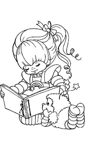 Rainbow Brite Reading Book Coloring Pages | adult coloring ...