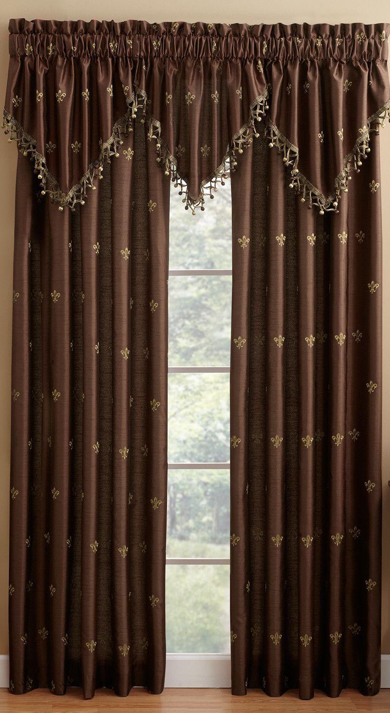 Lisa Fleur De Lis Lined Curtain Panel Curtains Lined Curtains