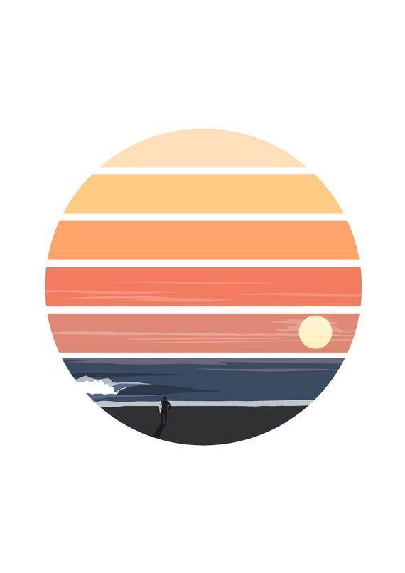 Last Out Print - Ocean, Sea, Surf, Surfer, Surf Art, Sunset, Surfboard, Wave, Wave Art, Landscape, P