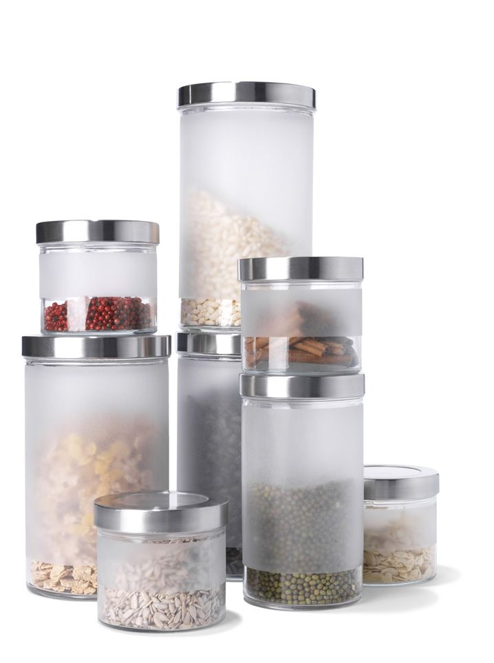 IKEA frosted canisters 2   Kitchen containers, Kitchen jars ...