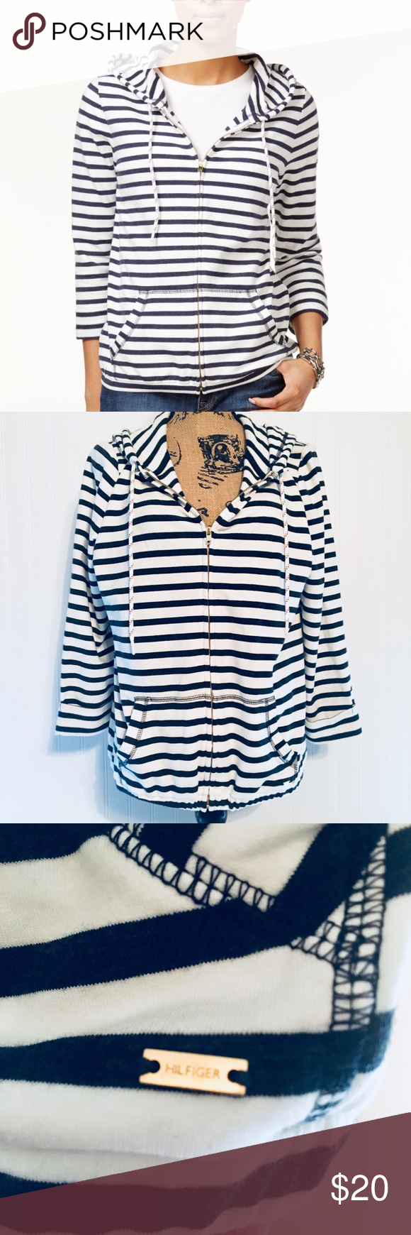 Sale 3/30 Tommy Hilfiger zip hoodie. Large Tommy
