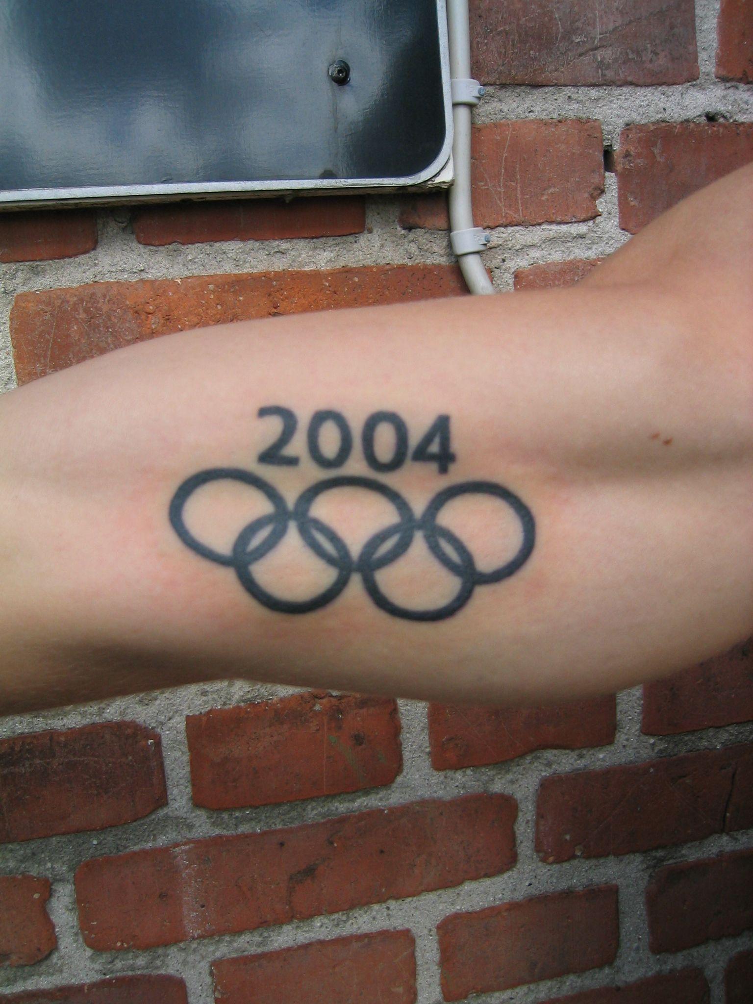Dansk Olympisk deltager i Grækenland. Tatoveringen lavet i Tattoo World Glostrup.