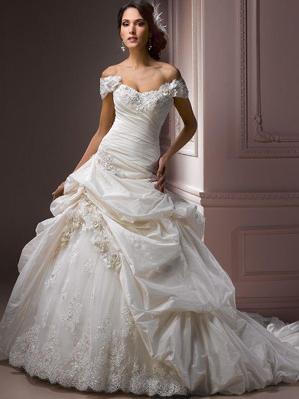 Champagner Wunderschöne Hochzeitskleider Spitze | Wedding Dresses ...