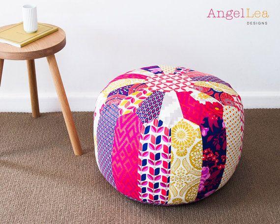 patchwork hocker pdf muster marokkanische von. Black Bedroom Furniture Sets. Home Design Ideas