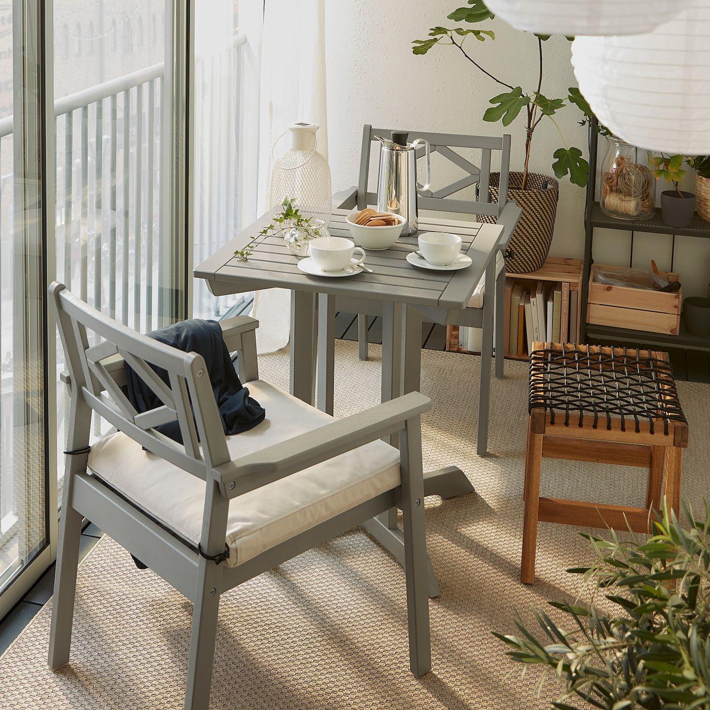 Bondholmen Stol 2 Krzesla Z Podl Ogrodowe Szara Bejca Dodaj