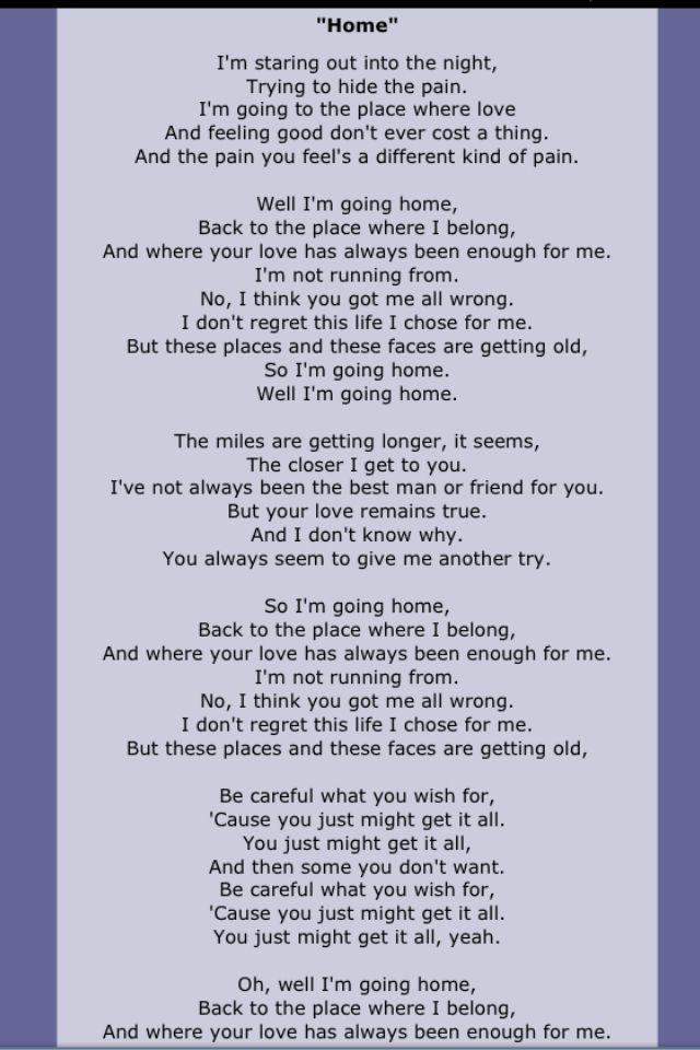 Home By Chris Daughtry 3 Great Song Lyrics Best Song Lyrics