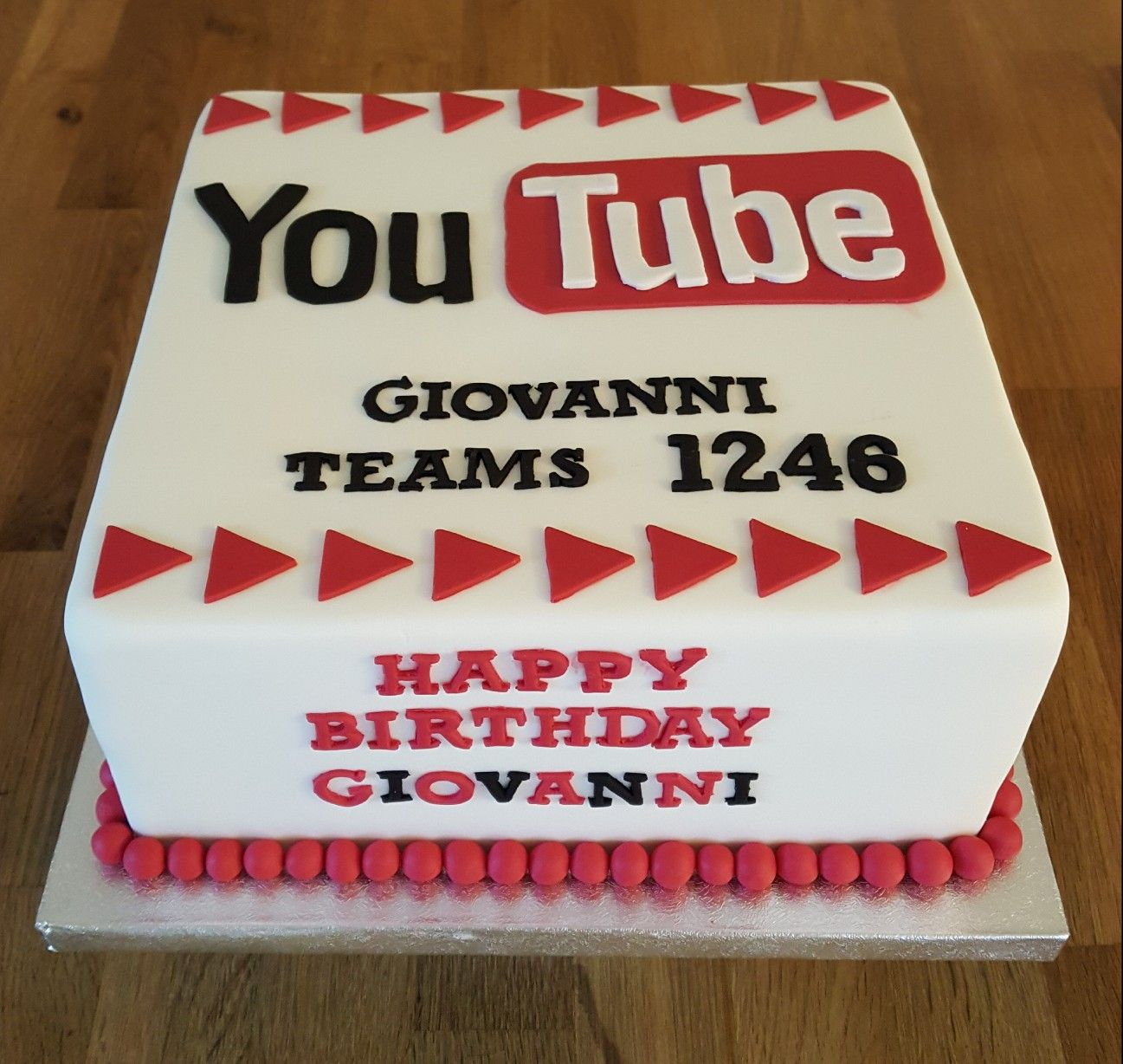 Marvelous You Tube Themed Birthday Cake Themed Birthday Cakes Lake Personalised Birthday Cards Paralily Jamesorg