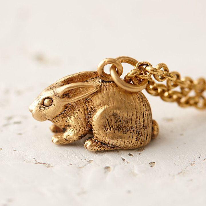 """Garden Rabbit Necklace"