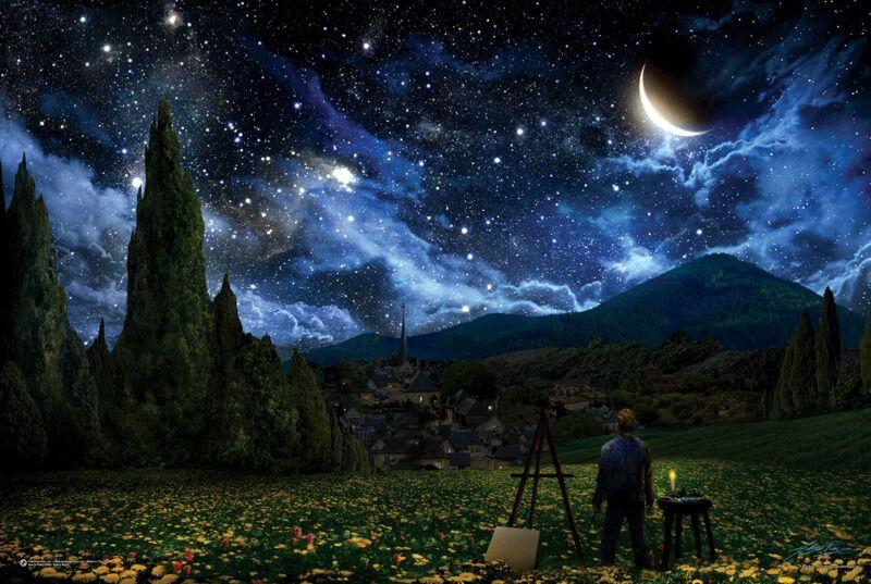 24x36 STARS SKY SPACE MOON 10590 FANTASY ART POSTER STARRY NIGHT