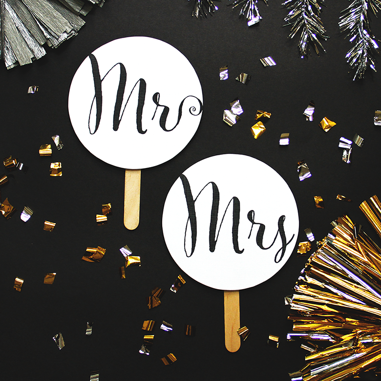 MR & MRS Photo booth props, Photo booth, Inspiration