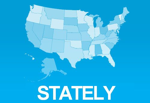 Stately A Font For Creating US Maps JQuery Plugins Pinterest - Us map jquery