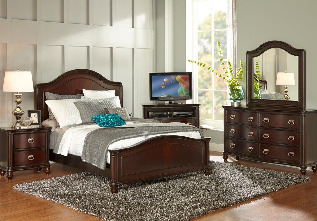 Mansell Manor Cherry 7 Pc King Panel Bedroom In 2019 Home