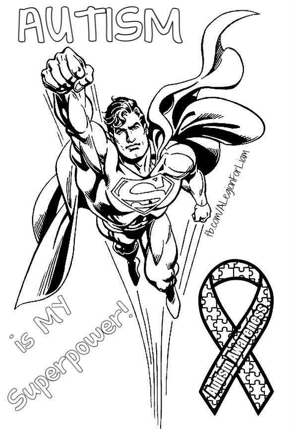 Autism awareness Coloring page FbcomALegionForLiam Love Lovr