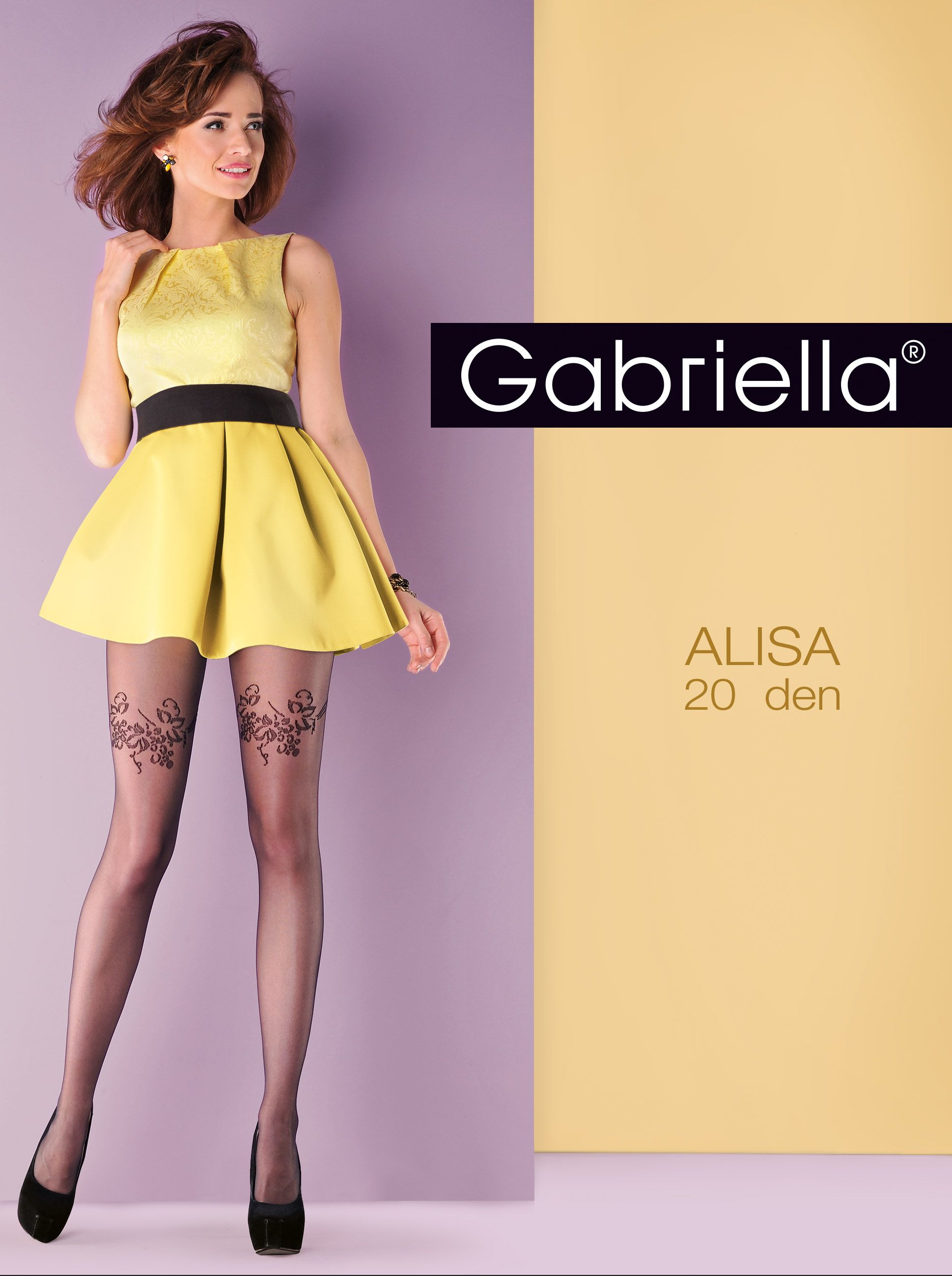 Pantyhose and alisa model