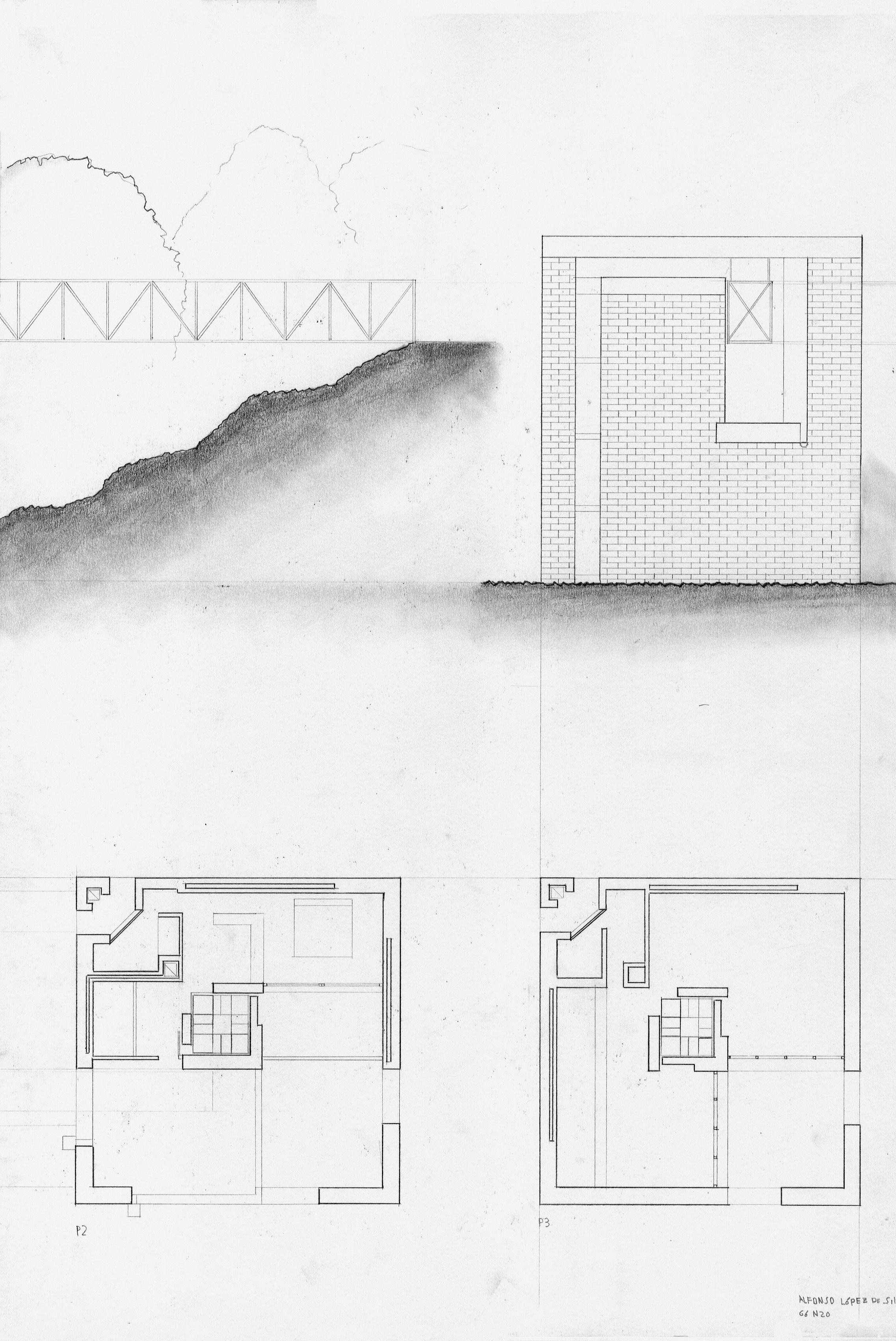 Villa Bianchi Architectural Drawing Diagram And Presentation Drawings Villas Mario Architecture Sketches