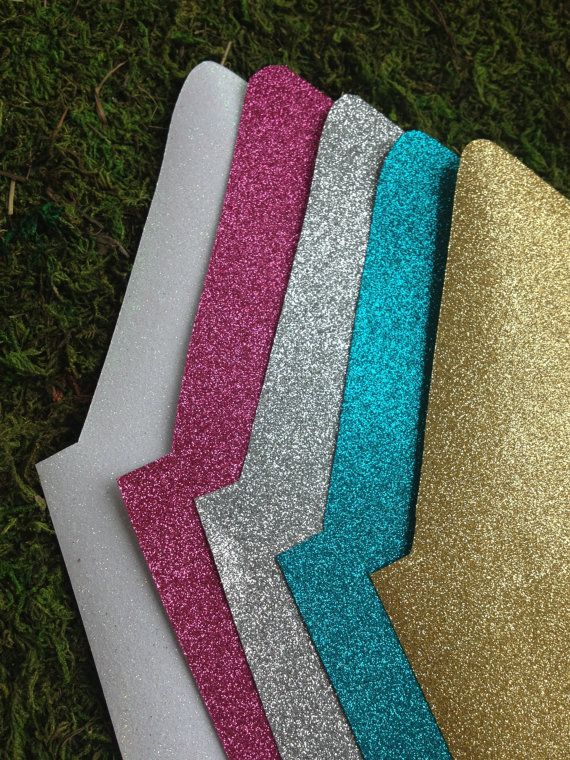 Glitter liners for Envelopes Set of 50 by WillowBoutique on Etsy, $50.00