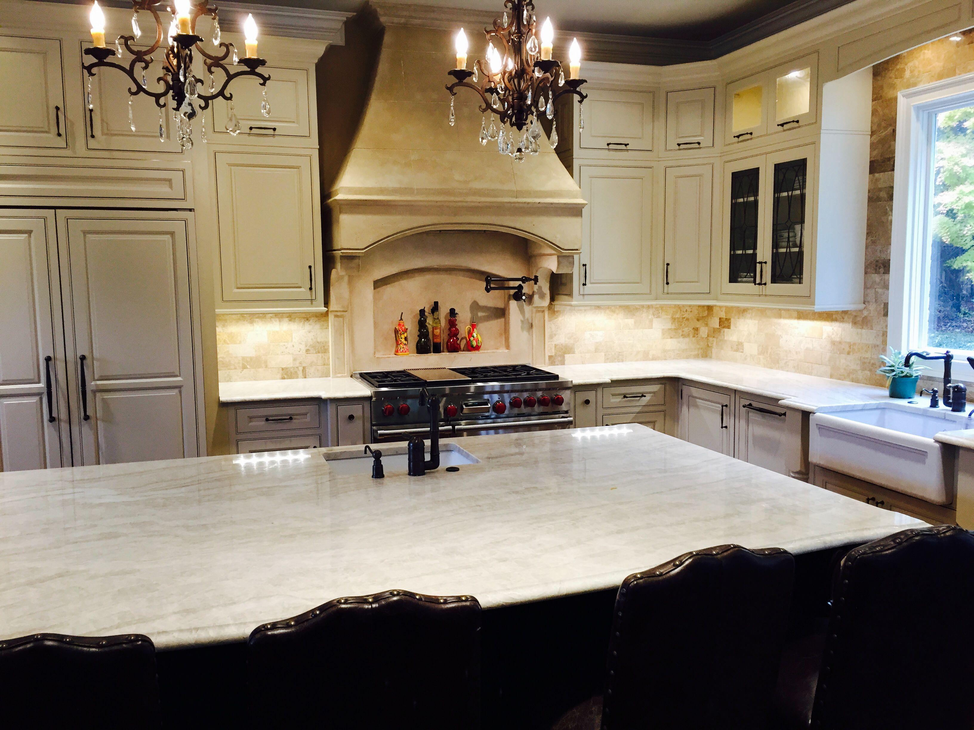 Best French Country Kitchen Taj Mahal Quartzite Countertops 400 x 300