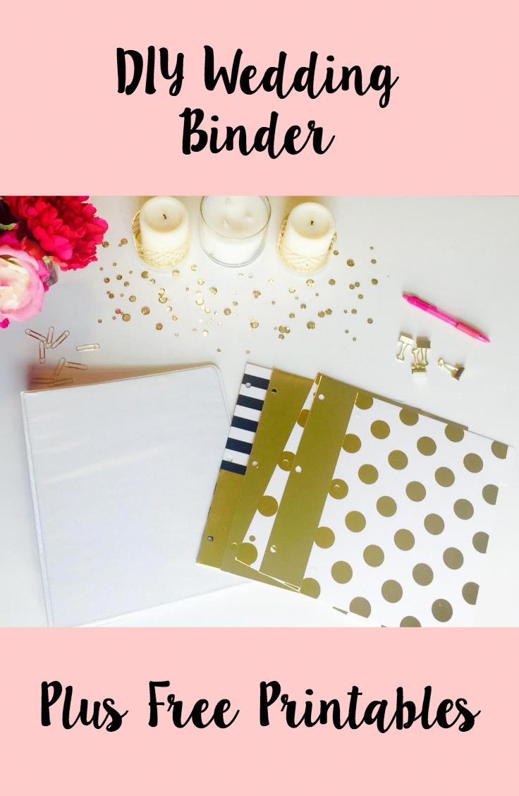 diy wedding binder and free printables freeweddingplanner free