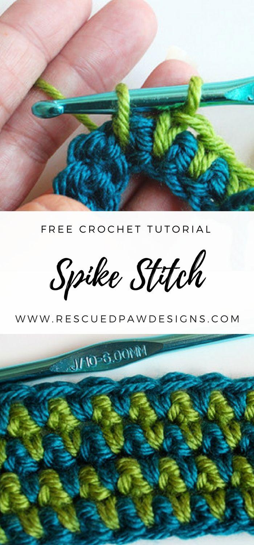How to Make a Spike Stitch – Crochet Tutorial | Ganchillo, Tejido y ...