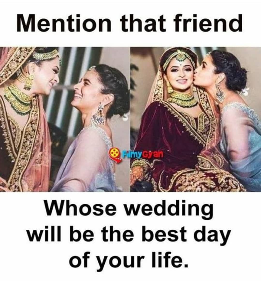 Tag Ur Besty Hotdeal Bridesmaids Bridallengha Punjabisuit Real Friendship Quotes Friendship Quotes Funny Friends Quotes Funny