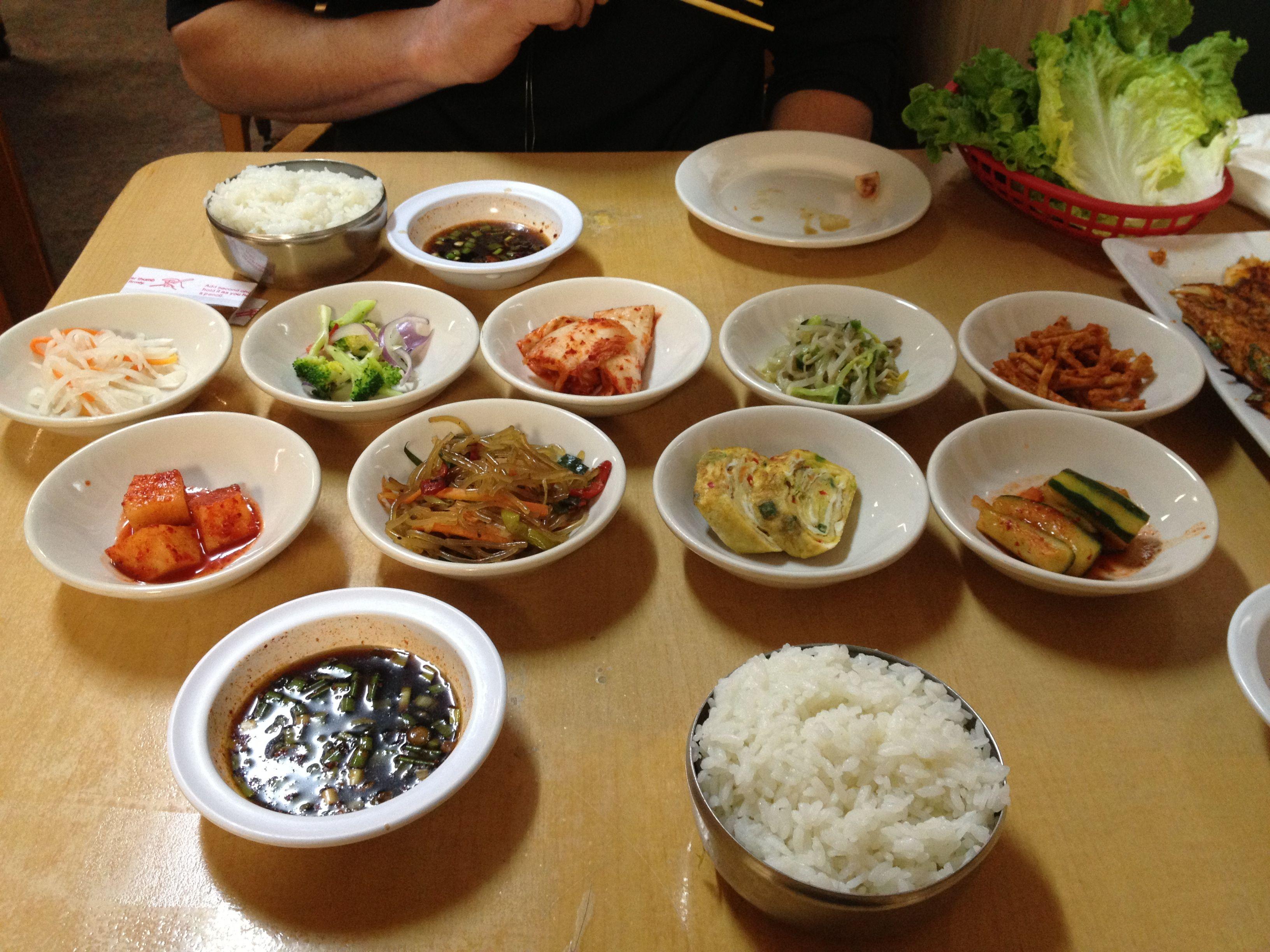 Banchans At Koreana Restaurant In San Antonio Texas Yummy Authentic Korean Food Very Good To Know Food Good Food Authentic Korean Food